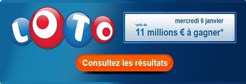 resultat loto du 9 janvier 2013
